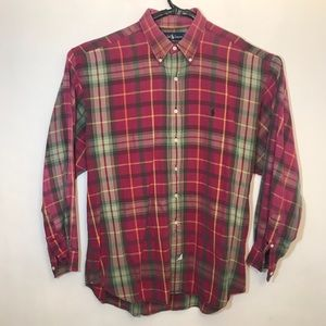 Polo Ralph Lauren Men's Plaid Oxford Shirt Size XL